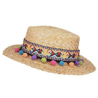 ヴィヴィアンウエストウッド(Vivienne Westwood)のヴィヴィアンウエストウッド カンカン帽子(麦わら帽子/ストローハット)