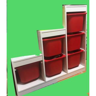 イケア(IKEA)のIKEA☆イケア☆トロファスト☆超美品☆ケース6個付き☆おもちゃ箱(収納/チェスト)