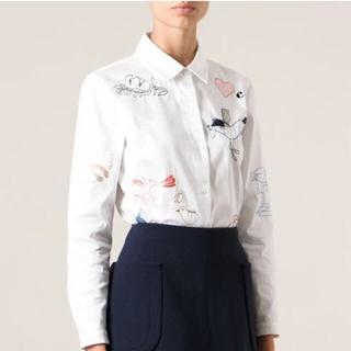 カルヴェン(CARVEN)のりりるさま専用carven✳︎刺繍ホワイトシャツ(シャツ/ブラウス(長袖/七分))