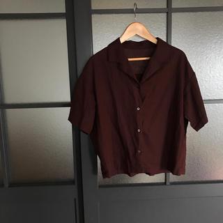 ジーユー(GU)の値下げ☆GU リネンシャツ(シャツ/ブラウス(半袖/袖なし))