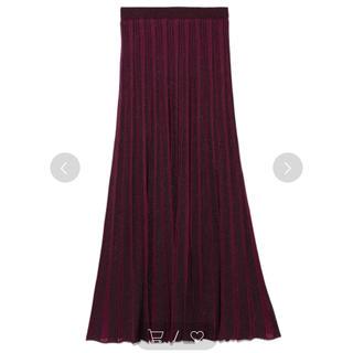 フレイアイディー(FRAY I.D)のFRAY ID マルチストライプニットスカート(ロングスカート)