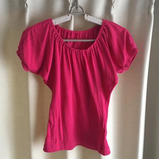 ジェーンマープル(JaneMarple)のジェーンマープル  ドンルサロン 美品 ピンク(カットソー(半袖/袖なし))