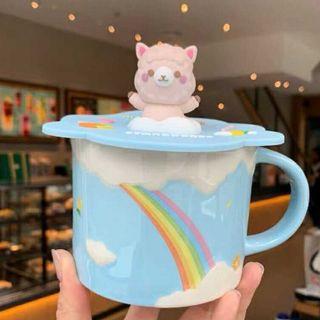 スターバックスコーヒー(Starbucks Coffee)のスタバ ブルースカイ 可愛い マグカップ アルパカ コースター セット 海外限定(マグカップ)