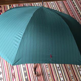 ポロラルフローレン(POLO RALPH LAUREN)のポロラルフローレン 紳士用 長傘 雨傘 男女兼用 70cm ジャンプ軽量 深緑 (傘)
