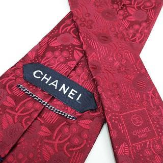 シャネル(CHANEL)のCHANEL シャネル ネクタイ 赤 剣幅約9.5㎝ f010(ネクタイ)