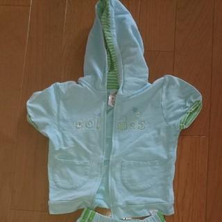 アディダス(adidas)の半袖 上下セット(ジャケット/上着)