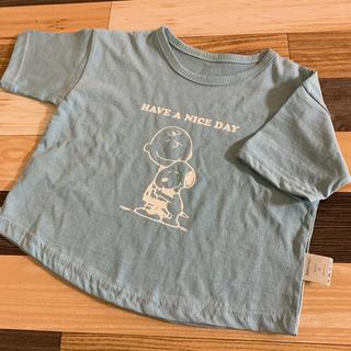 スヌーピー Tシャツ ブルー 80size(Tシャツ)