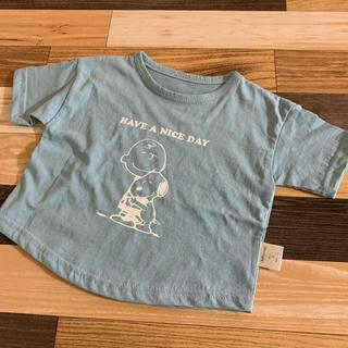 スヌーピー Tシャツ ブルー 90size(Tシャツ/カットソー)