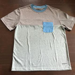 パタゴニア(patagonia)のパタゴニア★ポケットロゴTシャツボーイズL12 美品(Tシャツ/カットソー)