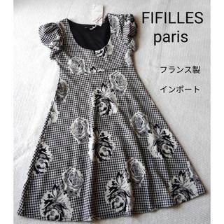 アーモワールカプリス(armoire caprice)のかわいいバラ柄ワンピース☆フィフィーユパリ(ひざ丈ワンピース)