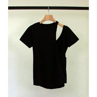アメリヴィンテージ(Ameri VINTAGE)のリトルスージー アシンメトリー Tシャツ(Tシャツ(半袖/袖なし))