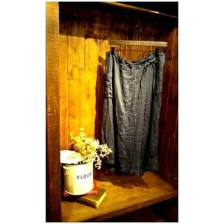 ネストローブ(nest Robe)の新品 nest Robe リネン巻きスカート風キュロットパンツ(キュロット)