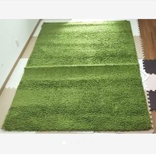 IKEA - ラグ グリーン 160cm×230cm