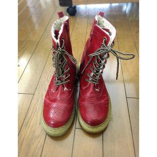 赤 ブーツ(ブーツ)