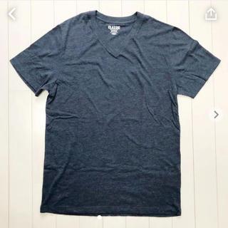 オールドネイビー(Old Navy)のオールドネイビー Vネック Tシャツ ブルー(Tシャツ/カットソー(半袖/袖なし))