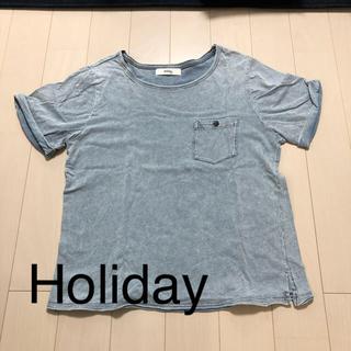 ホリデイ(holiday)のデニム風Tシャツ フリーサイズ(Tシャツ(半袖/袖なし))