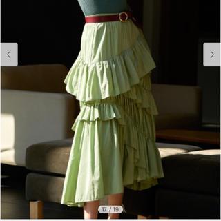 フレイアイディー(FRAY I.D)の新品未使用 フリルスカート(ロングスカート)