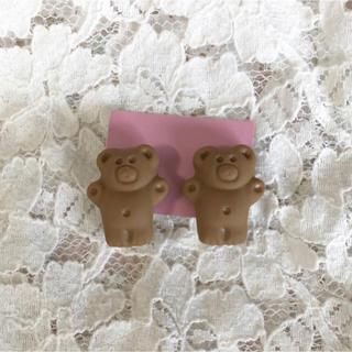 スナイデル(snidel)のくまさんクッキーイヤリング♥(イヤリング)