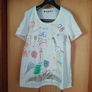 マルニ(Marni)の【最終値下げ】MARNI  マルニ 手描き イラスト Tシャツ44(Tシャツ(半袖/袖なし))