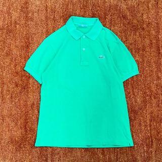ラコステ(LACOSTE)のCHEMISE LACOSTE ラコステ カノコ ポロシャツ 緑 *ワッペン(ポロシャツ)