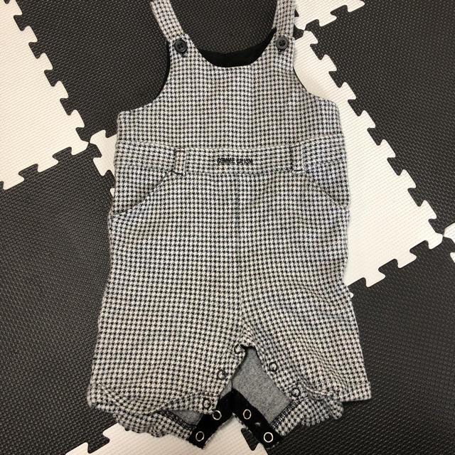 COMME CA ISM(コムサイズム)のコムサイズム 千鳥柄 状態良し キッズ/ベビー/マタニティのベビー服(~85cm)(カバーオール)の商品写真