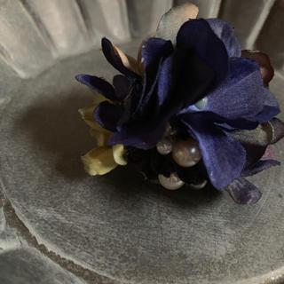 訳あり toytoy紫陽花ミニコサージュ ダークブルー(コサージュ/ブローチ)