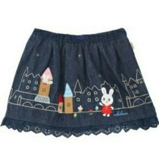 ミキハウス(mikihouse)の新品 ミキハウス おてがみ うさこ 豪華刺繍スカート(スカート)
