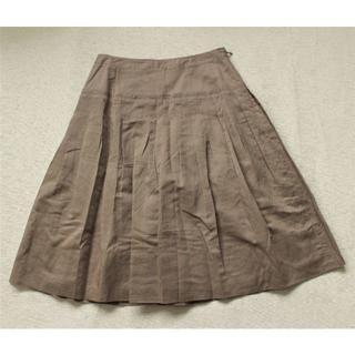 バーバリー(BURBERRY)のK350★新品同様 バーバリー ロンドン麻リネン スカート36夏服(ひざ丈スカート)