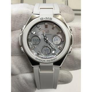 ベビージー(Baby-G)のbaby-G/ホワイト/シルバー/デジアナ/電波/ソーラー/白/MSG-W100(腕時計)