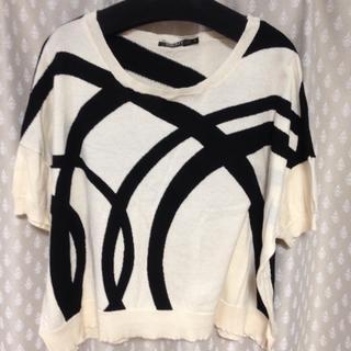 ダナキャランニューヨークウィメン(DKNY WOMEN)のDKNY 綿ニット 半袖 (ニット/セーター)