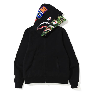 A BATHING APE - ABC SHARK FULL ZIP DOUBLE HOODIE