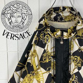 ヴェルサーチ(VERSACE)のkskさん 専用 ヴェルサーチ ゆるだぼ 90s 幾何学模様ナイロンパーカー(ブルゾン)