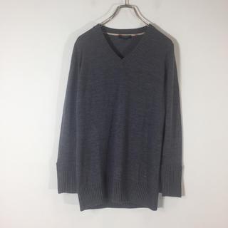 バーバリー(BURBERRY)の美品 バーバリーロンドン セーター グレー ウール100% 1 レディース(ニット/セーター)