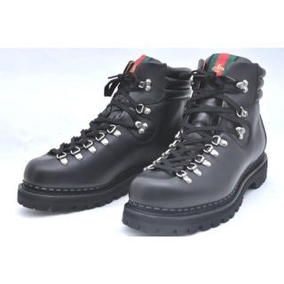 グッチ(Gucci)の新品 正規品 GUCCI グッチ レザー ブーツ ブラック 27.5cm 9(ブーツ)