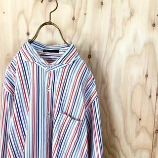 ニジュウサンク(23区)の【美品】23区 HOMME マルチカラー ストライプ デザインシャツ 50(シャツ)