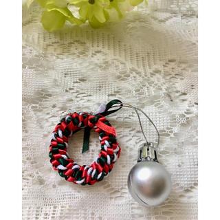 クリスマス リボン 飾り ストラップ キーホルダー(キーホルダー)
