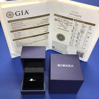 ニワカ(俄)のNIWAKA 750PG ダイヤ リング 0.23ct(リング(指輪))