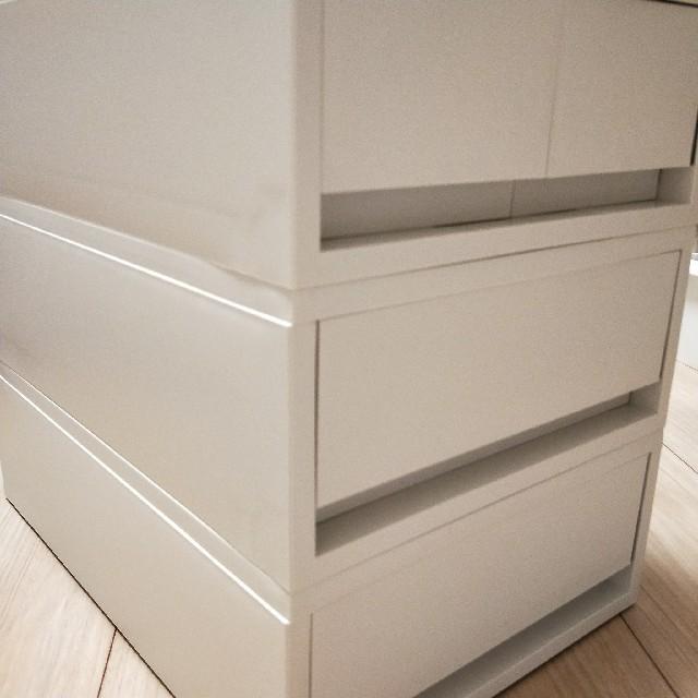 MUJI (無印良品)(ムジルシリョウヒン)の未使用 引き出し3点セット インテリア/住まい/日用品の収納家具(棚/ラック/タンス)の商品写真