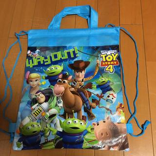 トイストーリー(トイ・ストーリー)の新品*ディズニー トイストーリー ナップサック 手提げバッグ 2way ブルー(その他)