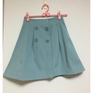 ティティアンドコー(titty&co)のブルーのtitty&co.フレアスカート(ひざ丈スカート)