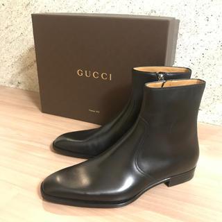 グッチ(Gucci)のブーツ ショートブーツ レザーブーツ ブラック(ブーツ)