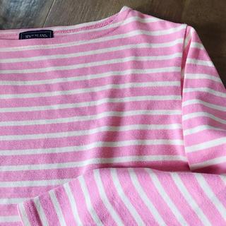 ロキエ(Lochie)のpink beige ボーダーT(Tシャツ(長袖/七分))