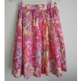 ドアーズ(DOORS / URBAN RESEARCH)のアーバンリサーチドアーズ リバティ 花柄 スカート(ひざ丈スカート)