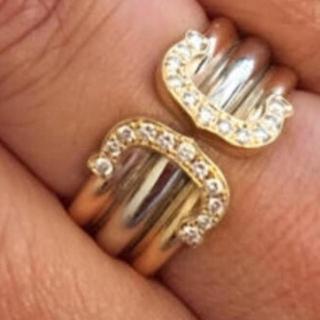 カルティエ(Cartier)のカルティエワイドリング、k18、18金、純金(リング(指輪))