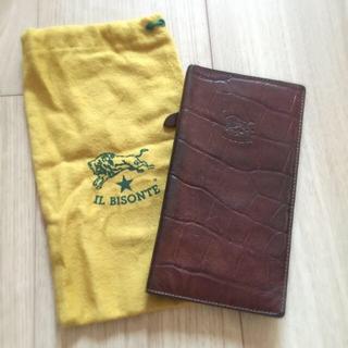 イルビゾンテ(IL BISONTE)のイルビゾンテ型押し長財布ブラウン(折り財布)