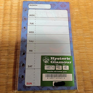ヒステリックミニ(HYSTERIC MINI)のHYSTERIC MINI  スケジュール帳(カレンダー/スケジュール)