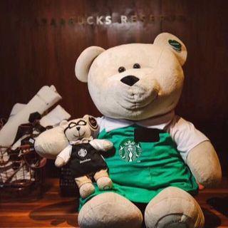 スターバックスコーヒー(Starbucks Coffee)のスターバックス 80cm スーパー べアリスタ 進撃の巨熊 海外限定 日本未発売(ぬいぐるみ)