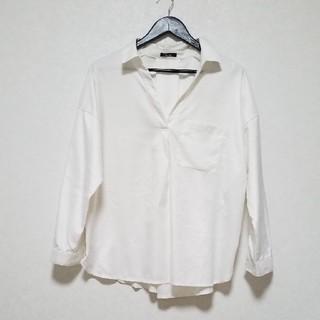 (セール中‼️)光沢のあるスキッパーシャツ【3L】#大きいサイズ (シャツ/ブラウス(長袖/七分))