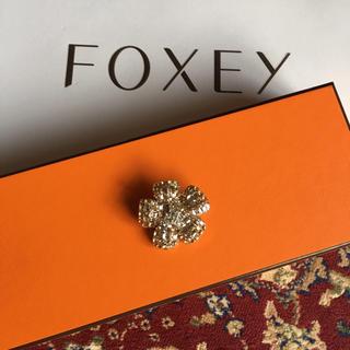 フォクシー(FOXEY)の【美品】フォクシー  FOXEY  ブローチ シャンパン ゴールド(ブローチ/コサージュ)