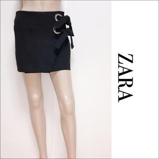 ZARA - ZARA サイドバックルリボン スカート♡ロイヤルパーティー DURAS